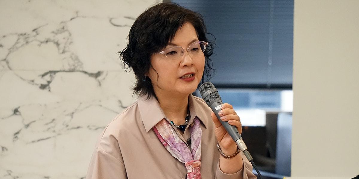 鴨志田祐美弁護士(2018年4月、編集部撮影、弁護士会館)