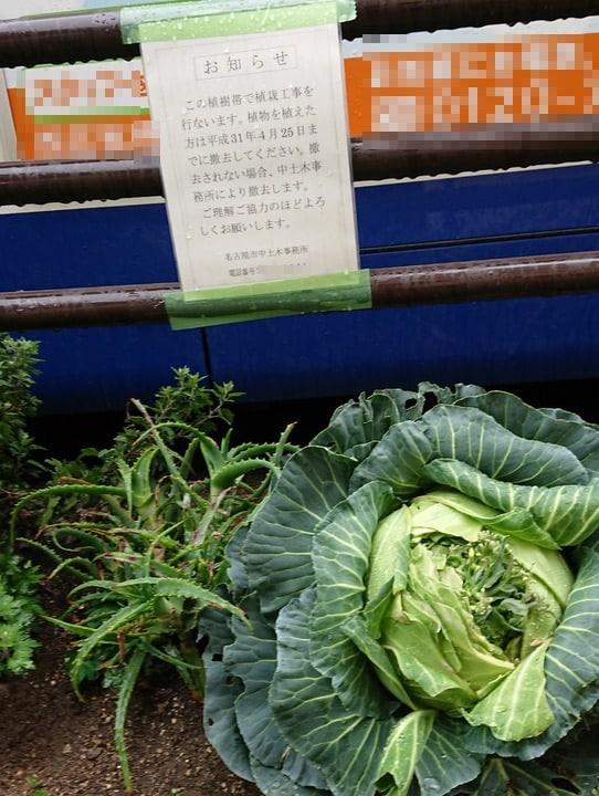 名古屋市の張り紙