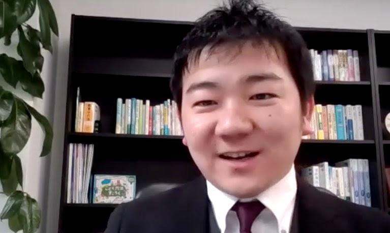 オンラインでインタビューに応じる飯田弁護士(2020年12月、弁護士ドットコム撮影)