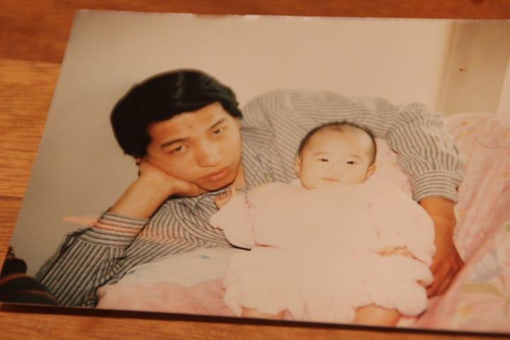 菅沼さんとお父さんの写真